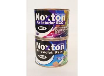 Флуоресцентная краска Noxton для интерьера ECO Светло-фиолетовая с фиолетово-розовым свечением под ультрафиолетом