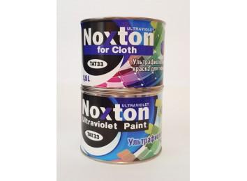 Флуоресцентная краска Noxton для ткани Белая с бирюзовым свечением в УФ свете
