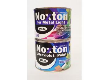 Флуоресцентная краска Noxton для металла Light Белая с бирюзовым свечением в УФ свете